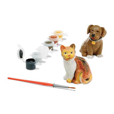 Figurky k vymalování Pes a kočka - 2
