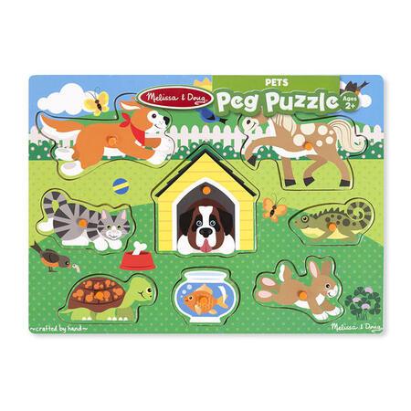 Dřevěné puzzle Domácí zvířata - 2