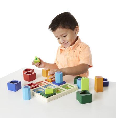 Dřevěná vkládačka třídění tvarů - 2