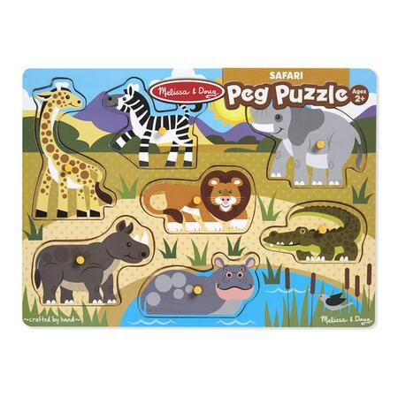 Dřevěné puzzle Safari - 2