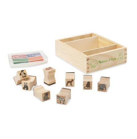 Dřevěná razítka v krabičce - ZOO - 2