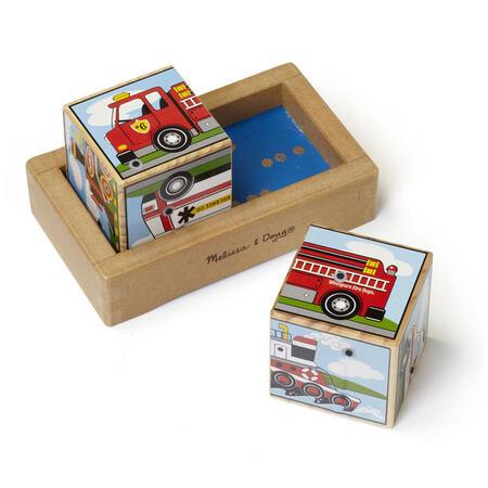 Dřevěné kostky se zvuky - Dopravní prostředky - 2