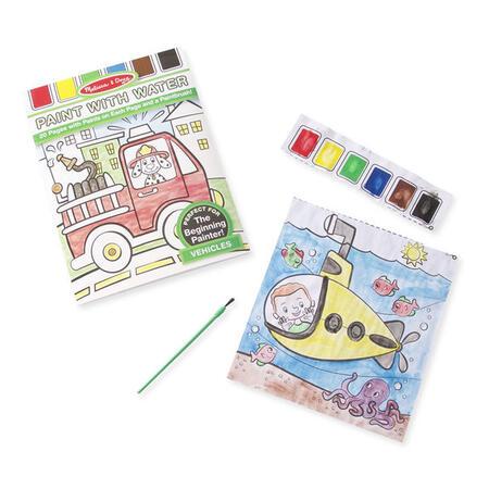 Omalovánky s barvami - dopravní prostředky - 2