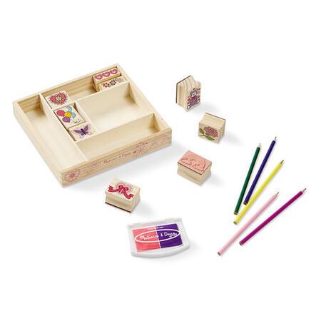 Dřevěná razítka v krabičce /přátelství/ - 2