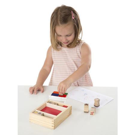 Dřevěná razítka v krabičce - Farma - 2
