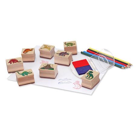 Dřevěná razítka v krabičce /Dino/ - 2