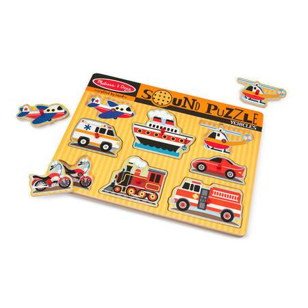 Dřevěné puzzle se zvuky Dopravní prostředky - 2