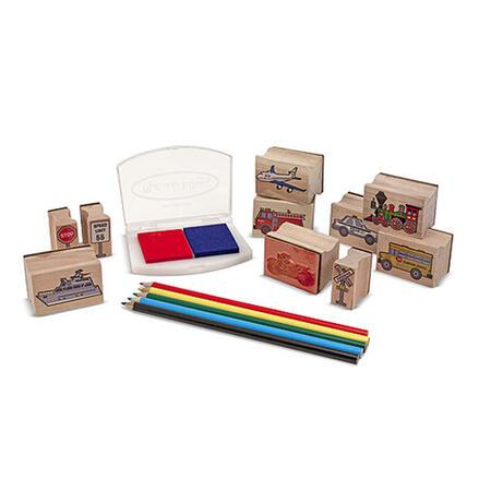 Dřevěná razítka v krabičce Dop.prostředky - 2