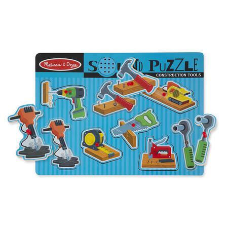 Dřevěné puzzle se zvuky - nářadí - 2