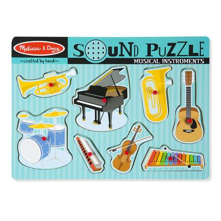 Dřevěné puzzle se zvuky - hudební nástroje - 2