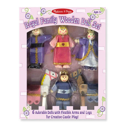 Dřevěné ohebné figurky Královská rodina - 2