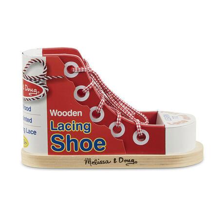 Dřevěná bota - Zavazování tkaničky - 2