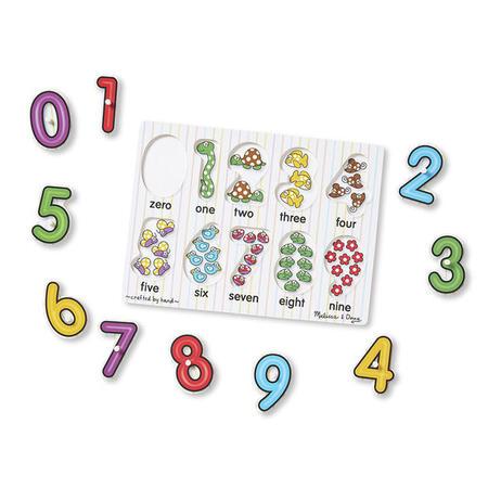 Dřevěné puzzle - Číslice - 2
