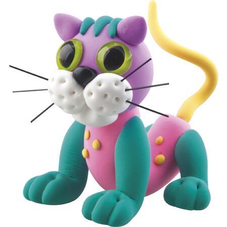 Samotvrdnoucí modelína - veselá kočka - 2