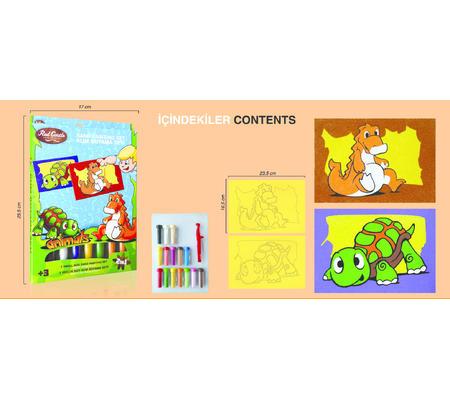 Pískování obrázků 2v1 /želva a dino/ - 2