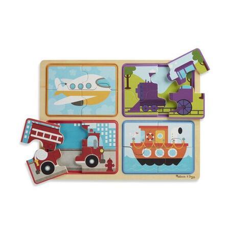 Dřevěné puzzle na cestu Dopravní prostředky - 3
