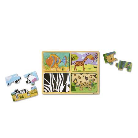 Dřevěné puzzle na cestu Zvířata - 3