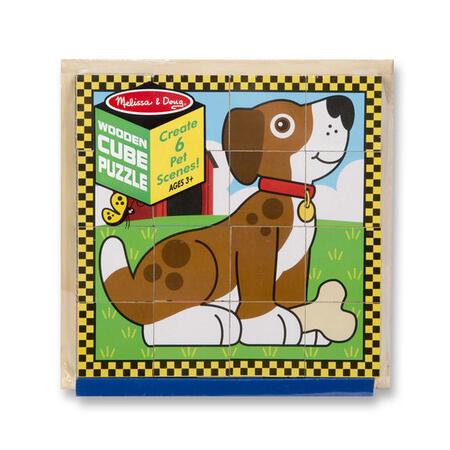 Dřevěné kostky - Mazlíčci - 3