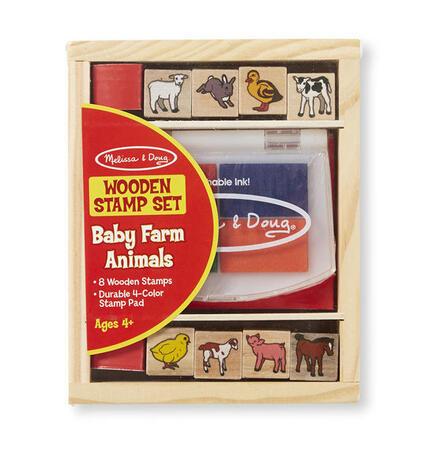 Dřevěná razítka v krabičce - Farma - 3