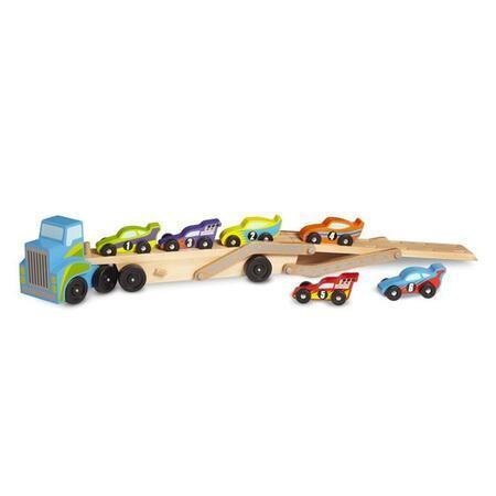Tahač se 6 závodními vozy - 3
