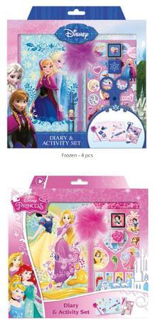 Diář & activity set /Frozen & princes/ - 3
