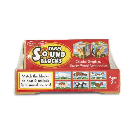 Dřevené kostky se zvuky - Farma - 3