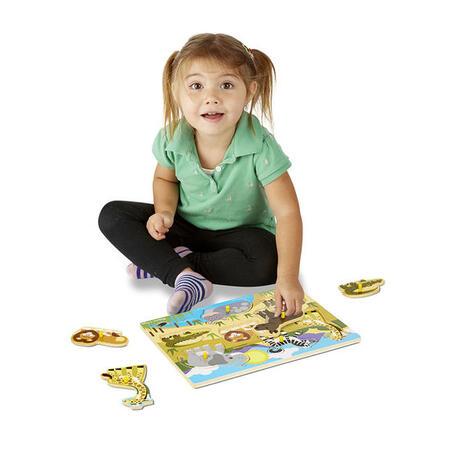 Dřevěné puzzle Safari - 3