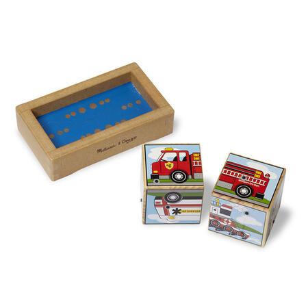 Dřevěné kostky se zvuky - Dopravní prostředky - 3