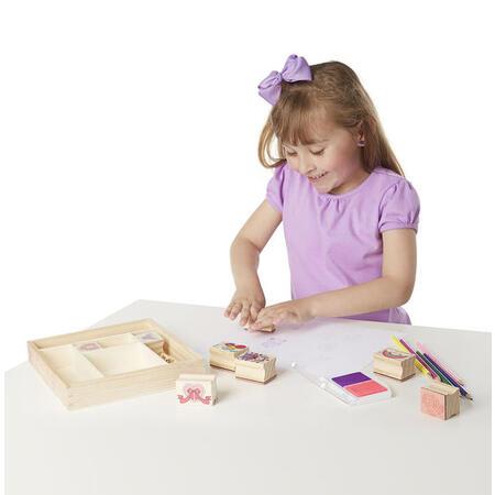 Dřevěná razítka v krabičce /přátelství/ - 3