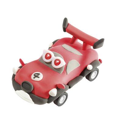 Jezdící auto červené modelování - 3