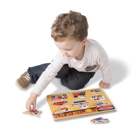 Dřevěné puzzle se zvuky Dopravní prostředky - 3