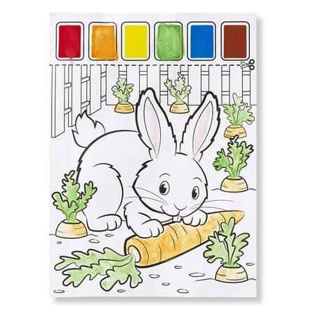 Omalovánky s barvami - zvířata na farmě - 3