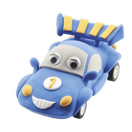 Jezdící auto modré - modelování - 3