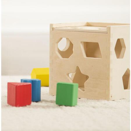 Dřevěná kostka na vkládání tvarů - 3