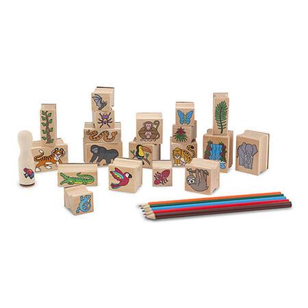 Dřevěná razítka v krabičce - Prales - 3
