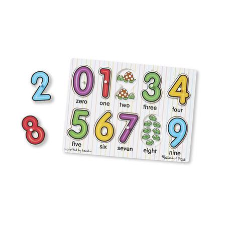 Dřevěné puzzle - Číslice - 3