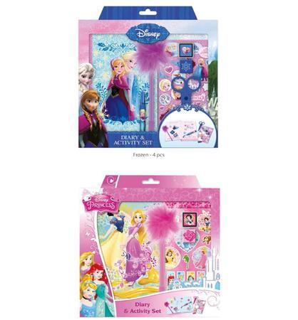Diář & activity set /Frozen & princes/ - 3