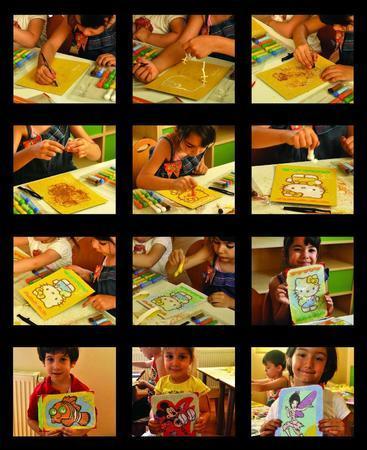 Pískování obrázků 2v1 /želva a dino/ - 3