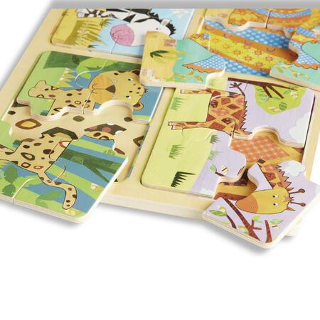 Dřevěné puzzle na cestu Zvířata - 4