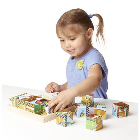 Dřevěné kostky - Mazlíčci - 4