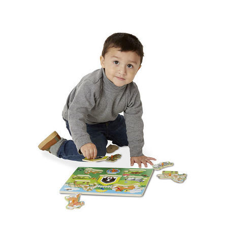 Dřevěné puzzle Domácí zvířata - 4