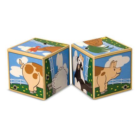 Dřevené kostky se zvuky - Farma - 4