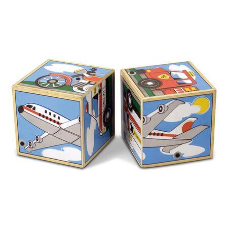 Dřevěné kostky se zvuky - Dopravní prostředky - 4