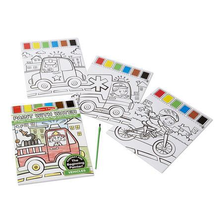 Omalovánky s barvami - dopravní prostředky - 4