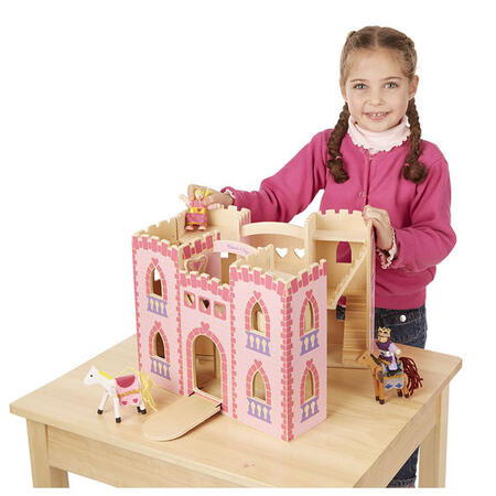 Skládací hrad - růžový - 4