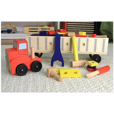 Dřevěná konstrukční stavebnice - auto - 4