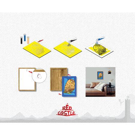 SAND ART - Sova a Jelen - 2x A4 obrázky + rámečky - 4