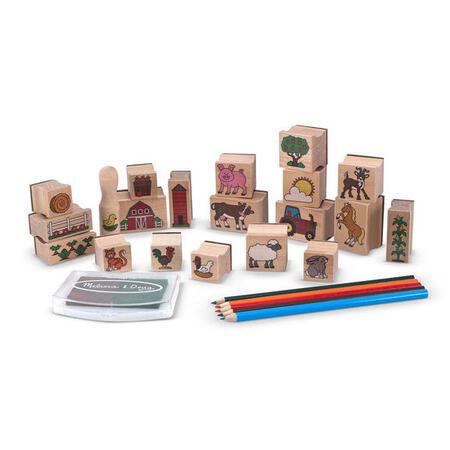 Dřevěná razítka v krabičce - Farma - 4