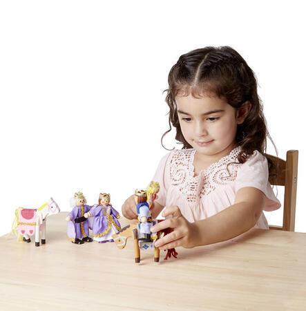 Dřevěné ohebné figurky Královská rodina - 4