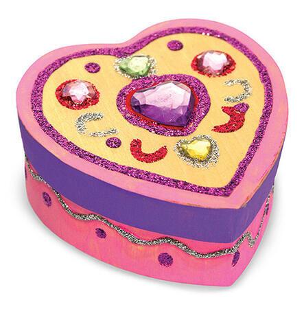 Dřevěná krabička k vymalování /Srdce/ - 4